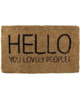 Hello You Lovely People Door Mat LOVE happy jackson products