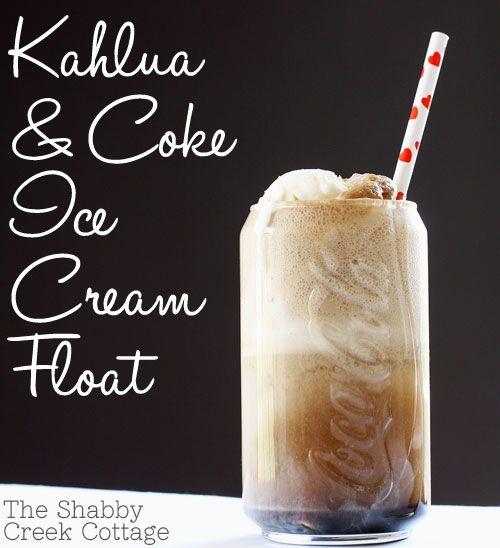 Kahlua and Coke Ice Cream Float @Erin Jessen we finally have something to do with the khaula