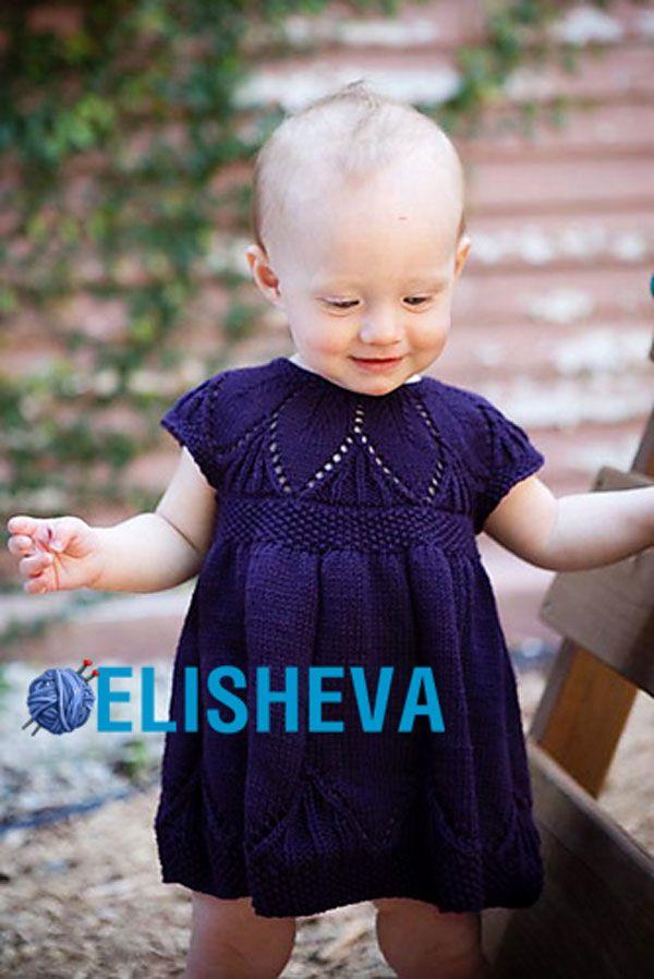 Вязанное платье для девочки 1 год
