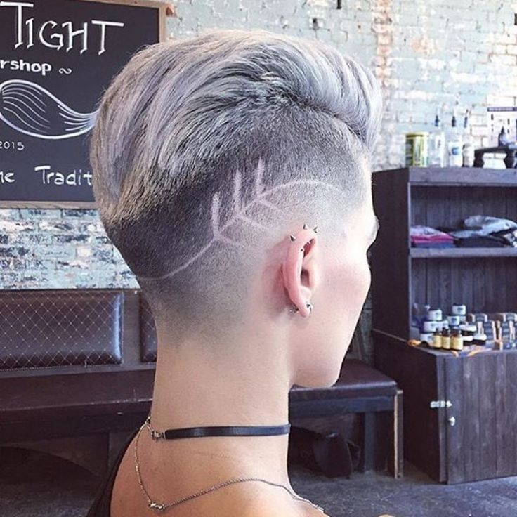 shaved sides pixie cut