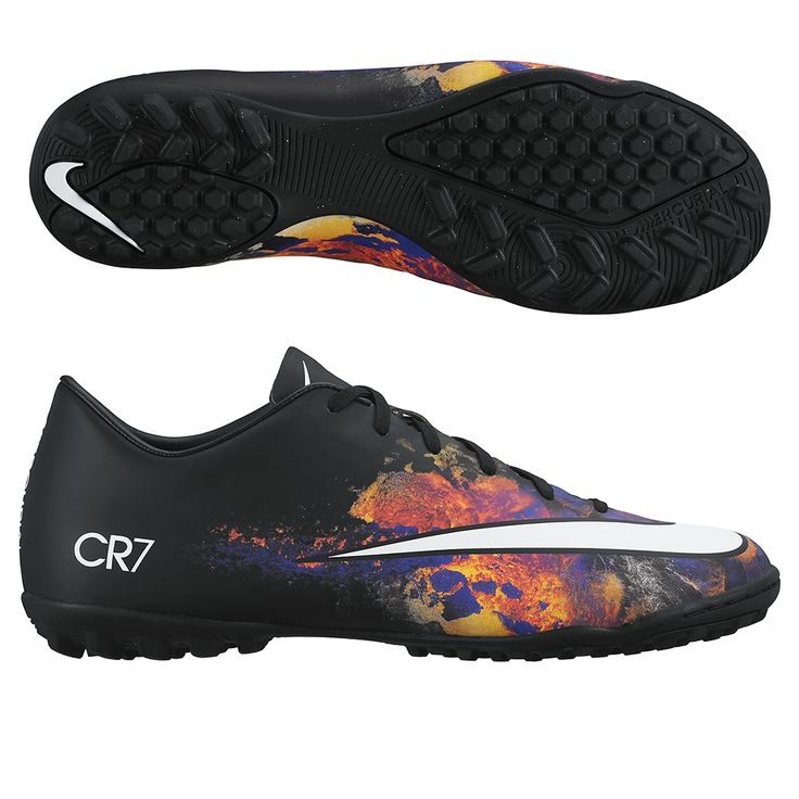Dominate the turf with the Nike CR7 Mercurial Victory turf soccer shoes. The CR7 Savage Beauty design will help you stick out, while you dominate with your play. Get all your Cristiano Ronaldo soccer cleats, shoes, and gear today at SoccerCorner.com!  http://www.soccercorner.com/Nike-Mercurial-Victory-V-CR7-Turf-Soccer-Shoes-p/st-ni684878-018.htm