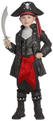 Captain Black Deluxe Toddler Child Pirate Costume