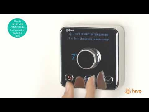 How to set up your holiday mode, child lock and frost protection tempera...