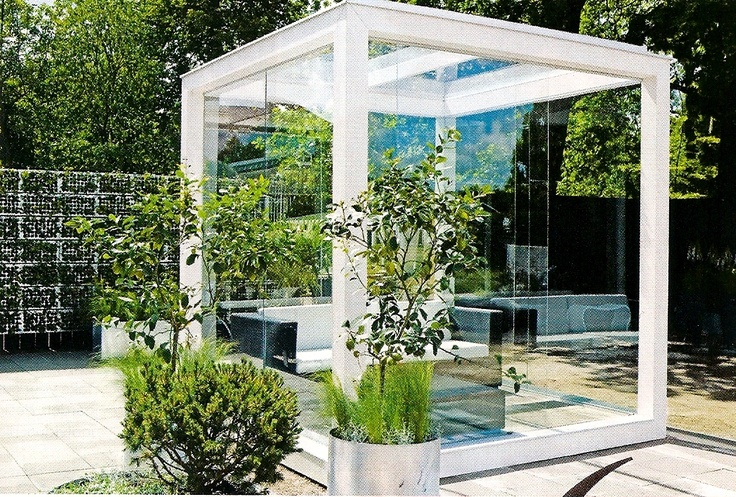 glass conference room | Live work courtyard ideas ...