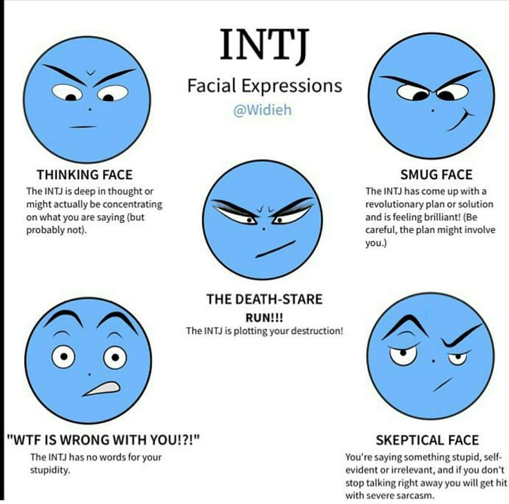 INTJ Facial Expressions. I rejected an INTJ who asked me out and it has been over three years now, yet every time I see him he has the smug face. It drives me mad, and I think that was the plan.