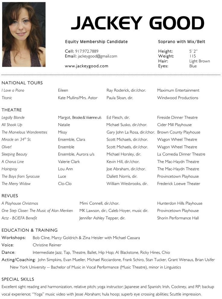 resume for actors best sample acting experience easy examples media amp arts actor actress