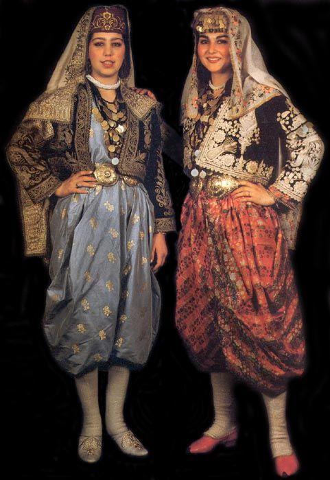 Şalvarlı Gelin, Geleneksel Türk Kadın Elbise - Turkish girl Traditional dress, Turkey
