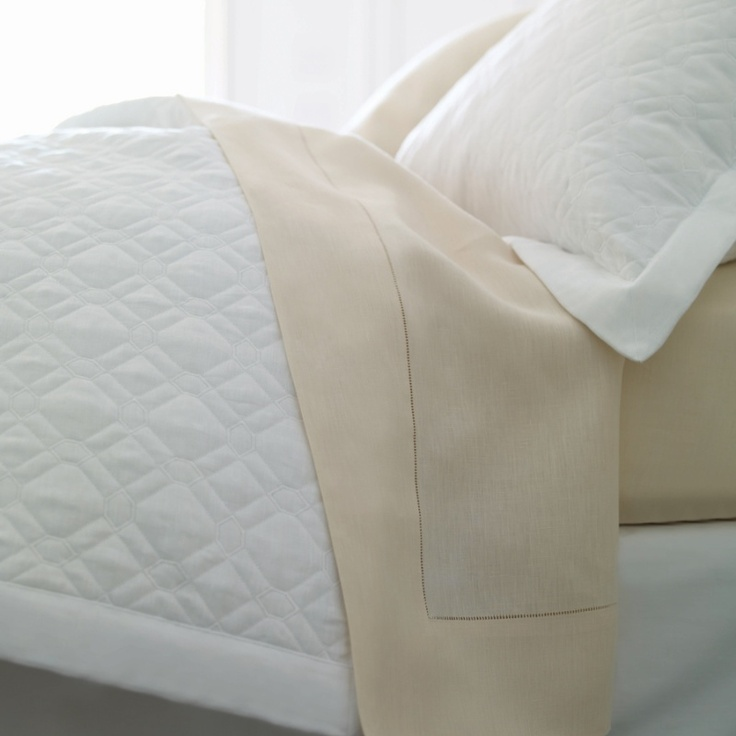 For linen lovers - add a SFERRA Nicola quilt for lived-in elegance and warmth.