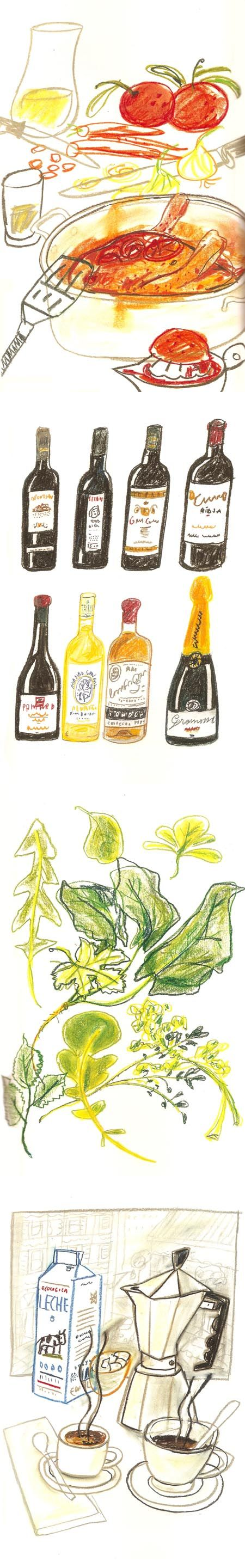 Illustrations for '1080 Recipes' by Javier Mariscal