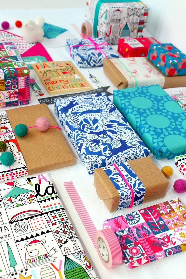 paperandcloth. Bold and colorful wrapping papers.