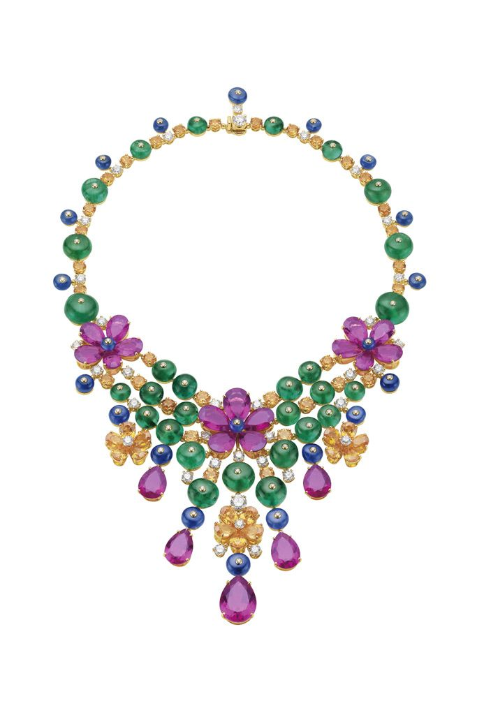 Bulgari Jewelry | colorful gems composed a piece of fine jewelry for the coming spring.