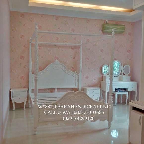 Jual Tempat Tidur Anak Perempuan Putih Kanopi
