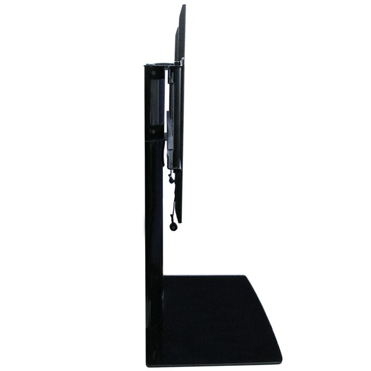 Sleek Design! - This TV mount with Shelf creates a modern look for your audio video equipment. No need for the bulky furniture to support the TV, cable or satellite boxes. The black piano finish adds a sleek look that shouts look at me!  All while making the most of functionality. Black 8mm thick tempered safety glass enhances the look and overall design. http://www.av-express.com/TV-Wall-Mount-With-Shelf