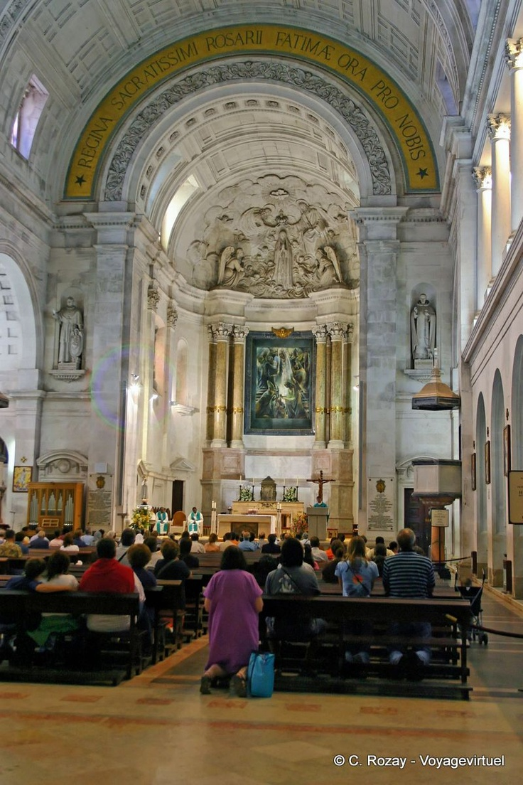 Interior da Basílica Fatima Portugal, and to be able to say my son sang here. Amazing trip.