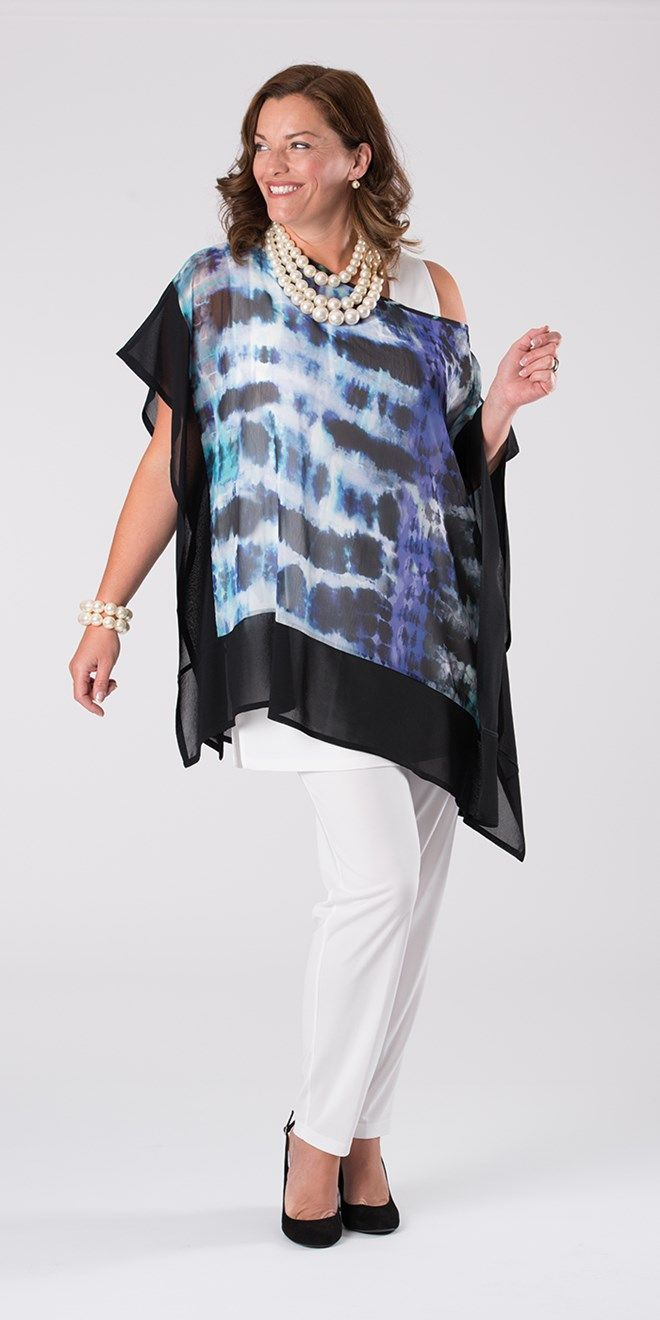 Kasbah grey/violet square blouse