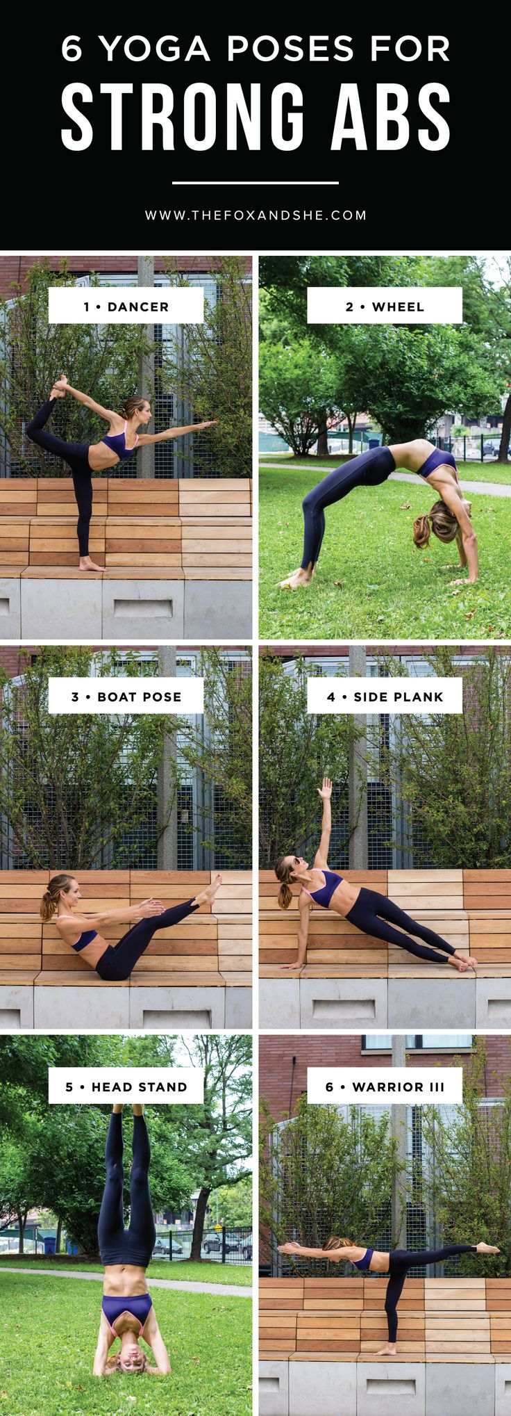 Summer is in full swing so we're sharing 6 yoga poses for strong abs so you can look great before hitting the beach or pool.