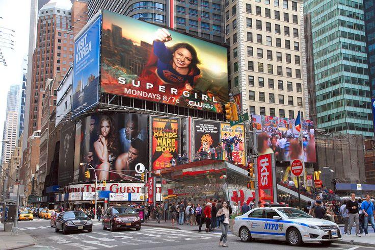 #Supergirl in Manhattan.