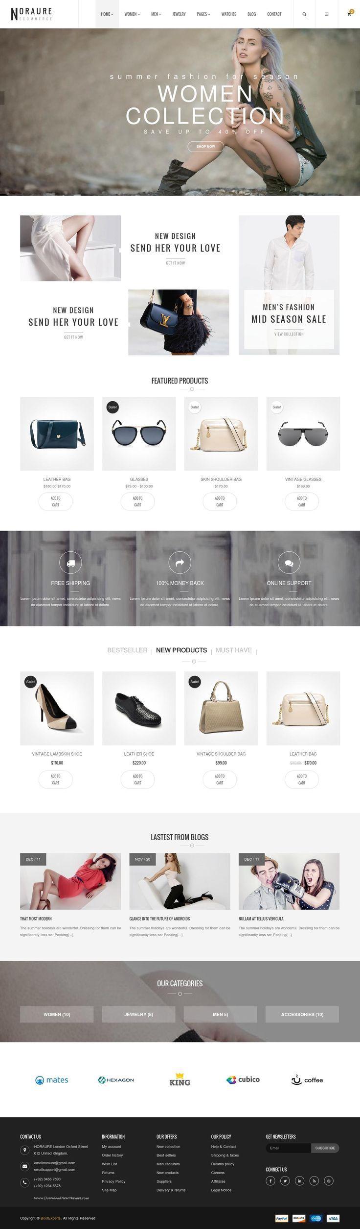 Noraure Mega Shop Bootstrap Template