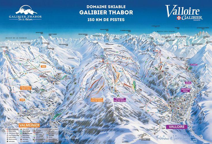 Plan des pistes Valloire Valmeinier
