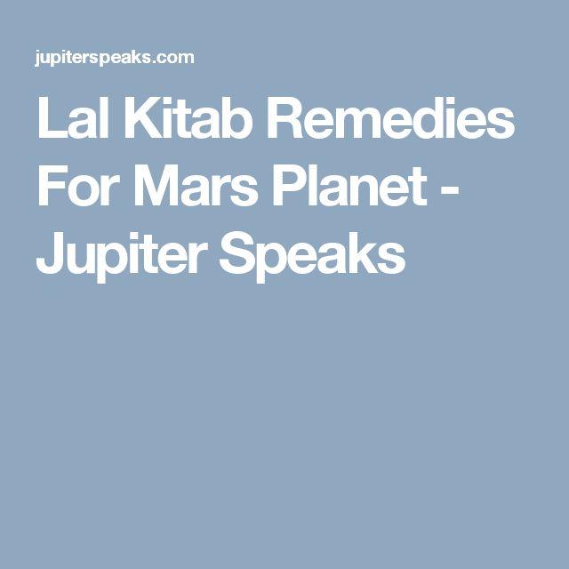 Lal Kitab Remedies For Mars Planet - Jupiter Speaks