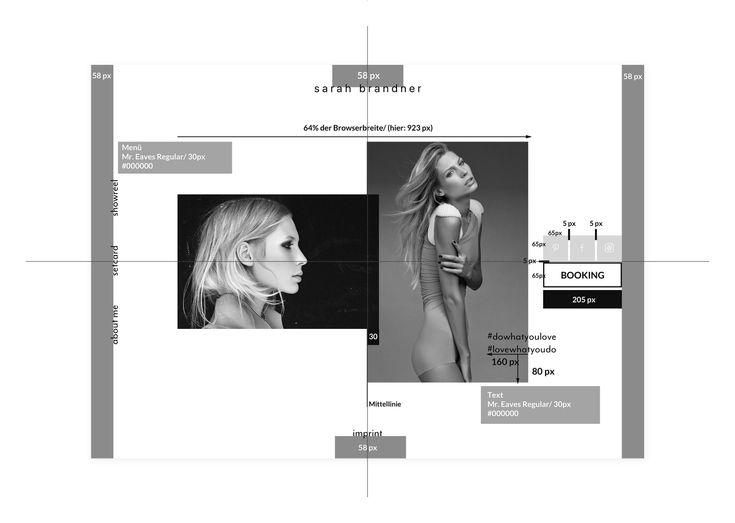 Website for model Sarah Brandner - by Corporate Creation