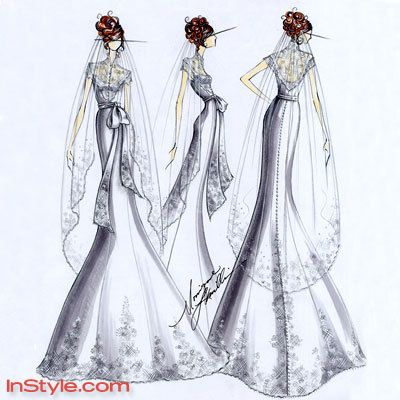 Bella's wedding dress for InStyle