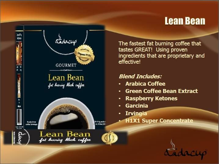 Lean Bean is made from a great blend of effective and proven ingredients.  It is helpful in slowing the absorption of food, calming blood sugar spikes and dips, signaling the brain to burn fat and control cravings.  Lean Bean contains an excellent source of fiber  (5 grams) that you won't taste or even notice.