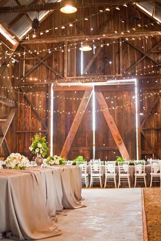 Mariage chic et champêtre dans une grange                                                                                                                                                      Plus