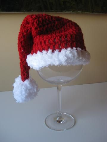 Crochet Baby Hat Free Shipping Santa Christmas by Locusttree for $18.00