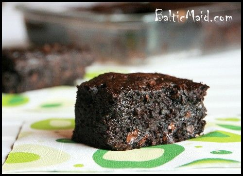 Zuccini brownies- I hope this is the recipe we used in cooking class in high school, they were delish