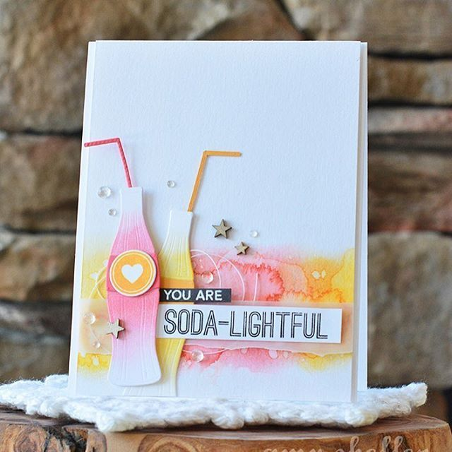 card soft drink Soda Pop bottles, Bottlecaps Die-namics, MFT Soda Bottle Die-namics, - #mftstamps bottles Soda Pop card Soda Pop stamps and dies by Laina Lamb for My Favorite Things. #mftstamps