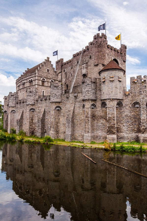Europe | Gravensteen Castle, Belgium. Gravensteen is the Dutch name for the 'castle of the count'. The counts of Flanders had castles built in the principal cities of the county. Archeological excavations have proved that three fortified castles constructed in wood must have stood on the site of today's Gravensteen. Already around the year 1000 the first stone castle must have been erected here.