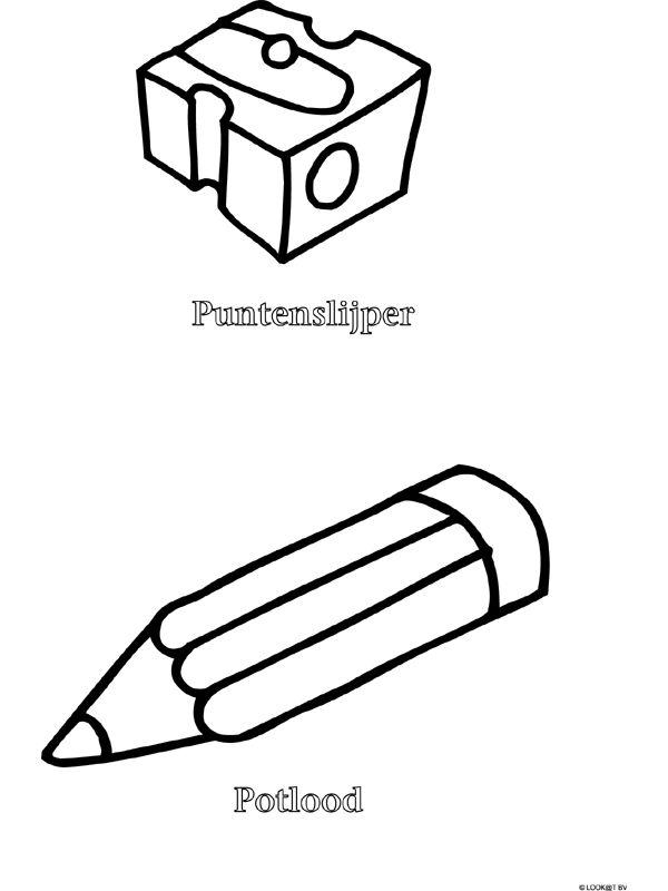potlood en puntenslijper puntenslijper potlood kleurplaten
