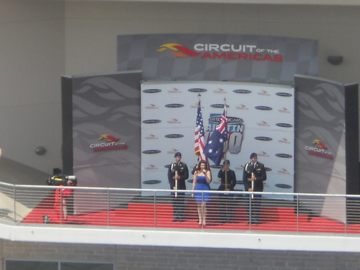 #Respect to Circuit of The Americas for opening anthems of both the U.S.A. and Australia! Kiwis I had met all really loved it! #Austin400 #COTAV8