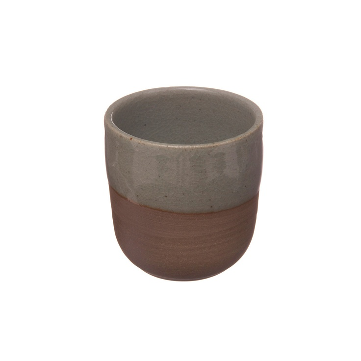 Image of Shelley Panton Stoneware Cup - Sage Grey on Red Clay