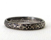 Christian Purity Ring Floral Promise Ring Antique Silver Posey Ring True Love…