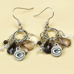 Green Bay Packers Multi Bead Earrings at the Packers Pro Shop