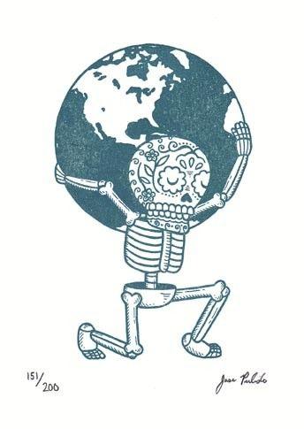 El Mundo Limited Edition Gocco Serigraph. $10.00, via Etsy.