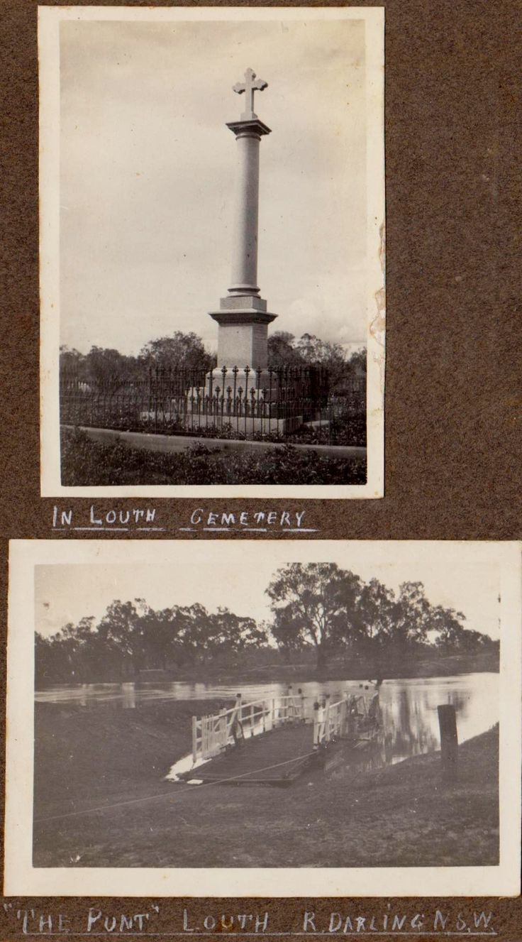 Mary Mathews monument, Louth. Punt Darling River, Louth, NSW,