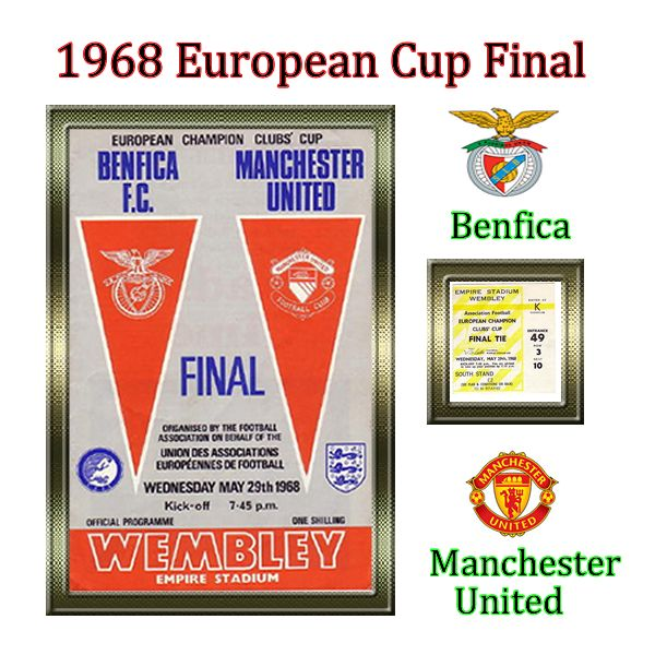 1968 European Cup Final ~ Benfica v Manchester United - man utd won by 4 goals to 1, George Best scored an incredible goal and really put him on the map.