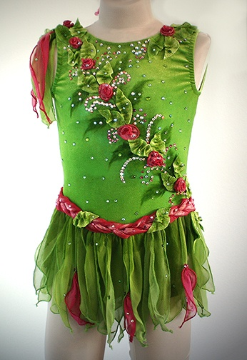 Fairy themed figure skating dress. LOVE IT!!!!!!!!! My little tink would look perfect in this!