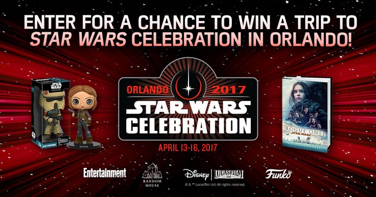 Want to visit a galaxy far, far away? Enter for your chance to win a trip to Star Wars Celebration 2017!  http://bit.ly/2hkQd8X