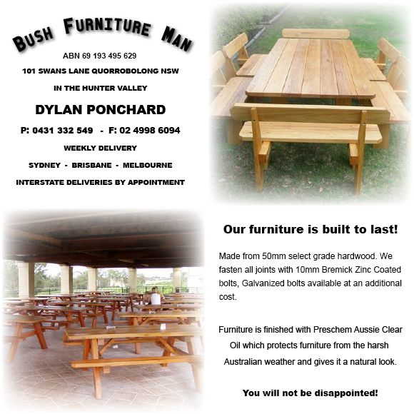 Rustic Bush Outdoor Furniture U0026 Commercial Outdoor Furniture, Picnic  Tables, Hardwood Bench Seating, Custom Made Large Tables By Furniture  Specialists.