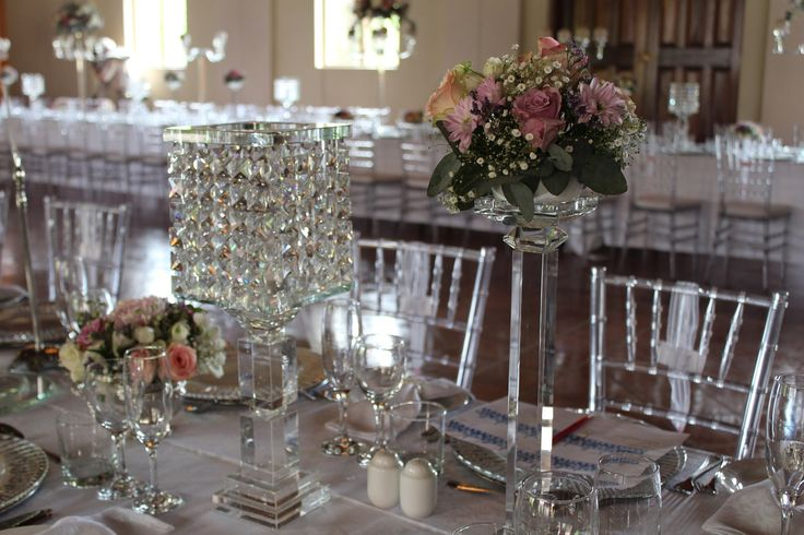 Crystal lampshades - exclusive for Happily Ever After Wedding Design & Décor.  Have exclusive crystal at your wedding - www.heaweddings.co.za