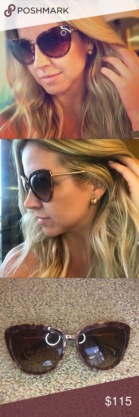 Kate Spade tortoise cat eyed sunglasses Sassy and classy! Brand new without tags, never worn no damage or scratches! Tortoise framed with gold trim, sturdy and comfortable! Reg $195 kate spade Accessories Sunglasses