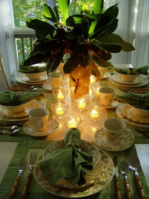 magnolia leaves, lemons & candlelight
