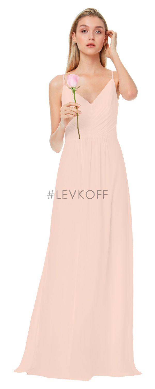 Contemporáneo Vestido De La Dama De Honor Levkoff Factura Regalo ...