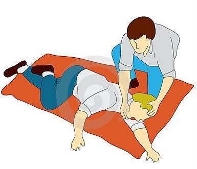 Os primeiros socorros para convulsões são:: Dar espaço para a vítima; Afastar objetos que possam machucar a vítima, como mesas e cadeiras; Colocar a...