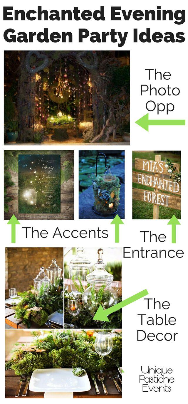 Enchanted Evening Garden Party Ideas #IdeaBoard #InspirationBoard