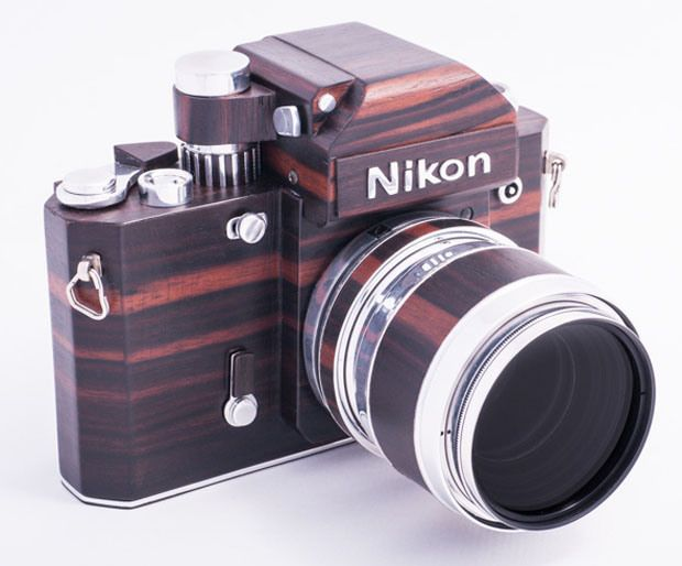 Nikon F2D: A Homemade Digital Nikon F2 Replica Crafted Out of Wood